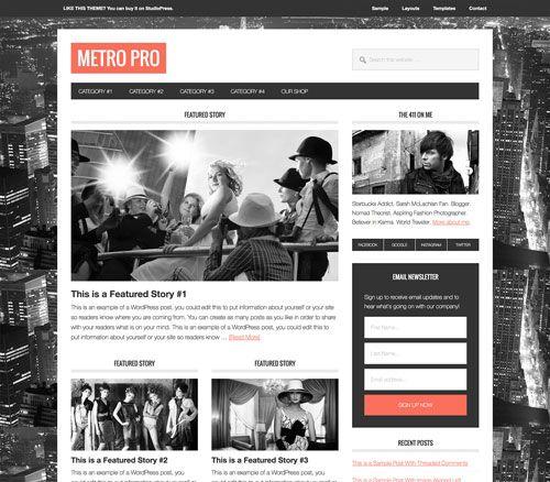 Studiopress Metro Theme