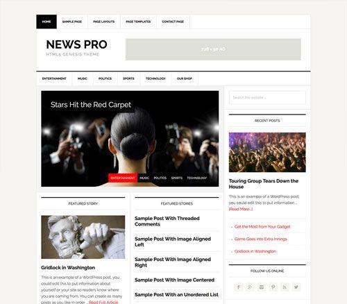 Studiopress News Pro