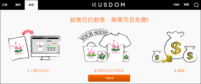 Kusdom客製化商品服務平台