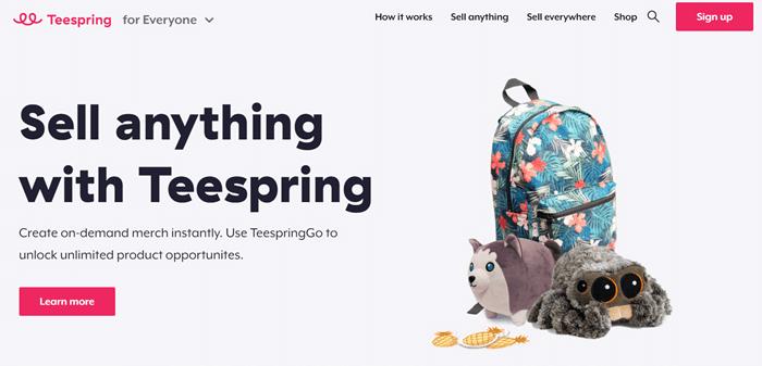 Teespring客製化商品服務