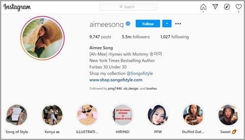 Instagram网红Aimee Song